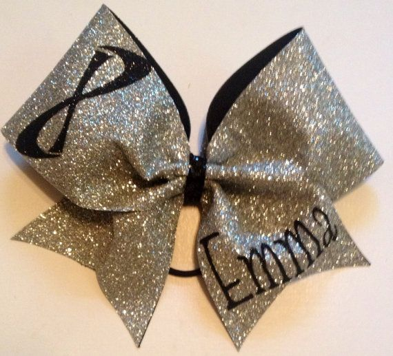 Nfinity Super Sparkle Cheer Bow with Name by ENMProductions