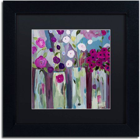 PURPLE ROSES BLACK AND WHITE CANVAS WALL ART PICTURE 18 X 32 INCH FRAMED