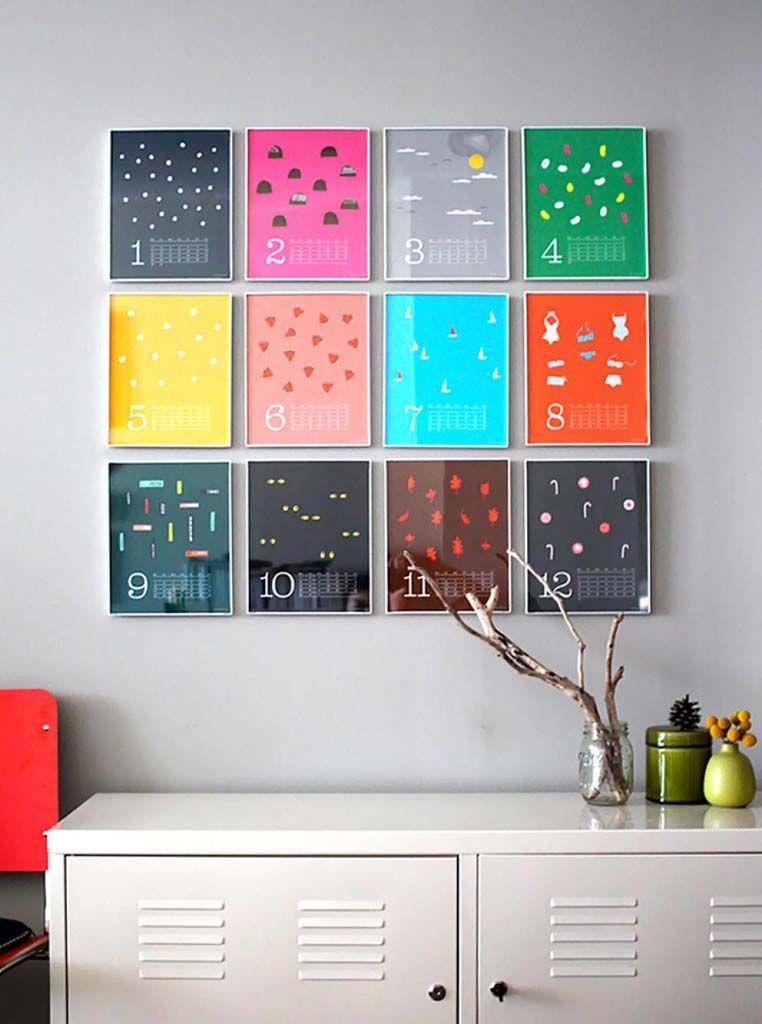 Calendar art for your DIY home decor
