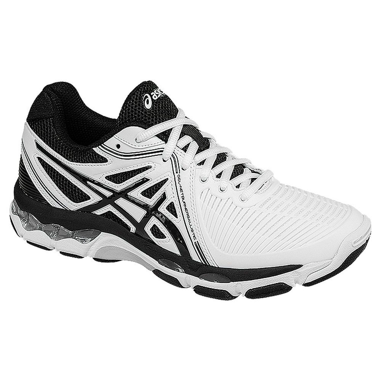 ASICS Women's Gel Netburner Ballistic Volleyball Shoe, Columbia  Blue/Silver/Navy, 6 M US