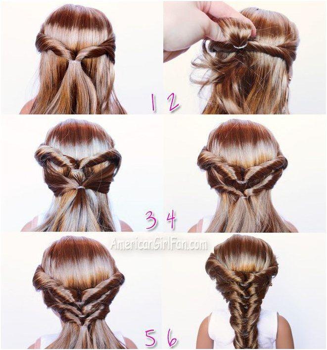 Topsy Turvy Faux Fishtail Braid American Girl Doll Hairstyle Hairbraidingtutoria American Girl Doll Hairstyles American Girl Hairstyles Little Girl Hairstyles