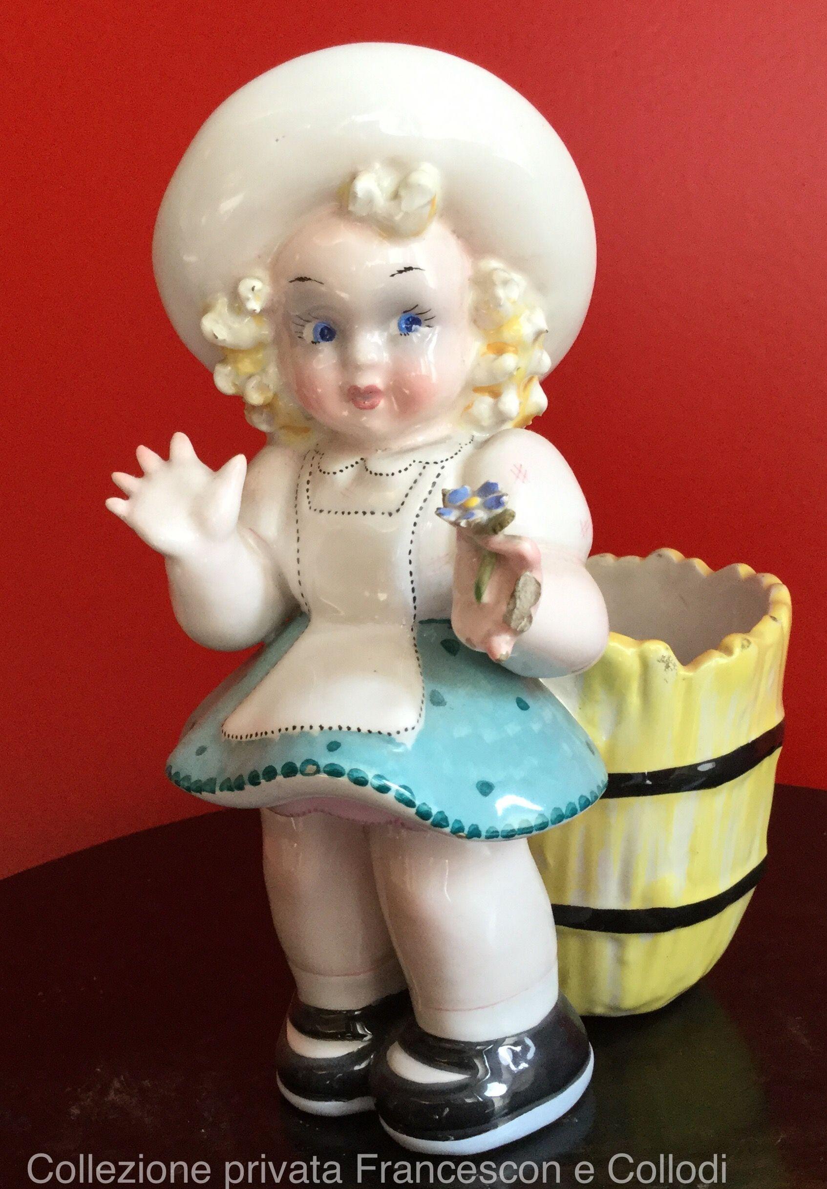 Bambina Con Vasetto Ceramiche Tarcisio Tosin