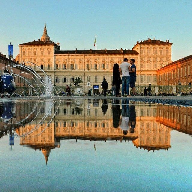 Turinapuddle Palazzo Reale Torino Italia Instagram Giorni Di Pioggia