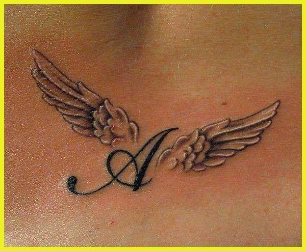 55+ Ingenious Angel Wings Tattoo Designs for Men & Women- #Angel #Designs #Women # for #Ingenious