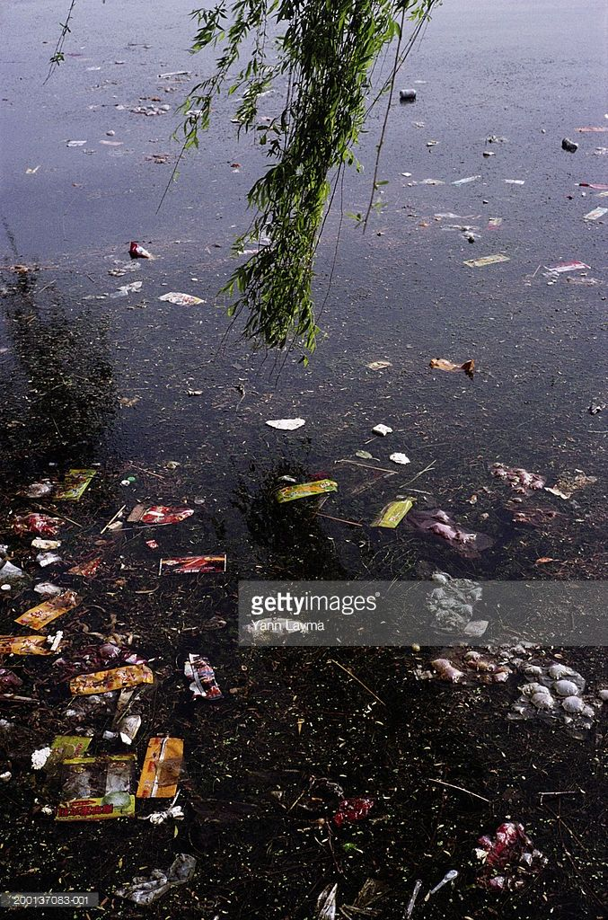 China Henan Province Sanmenxia Litter Floating On Yellow River Henan Water Pollution Yellow River