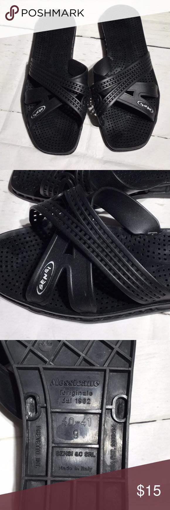 0556facf719da1 Sensi Mexico Spa Sandal Black gently loved   Spa Sandal   Sensi Shoes  Sandals