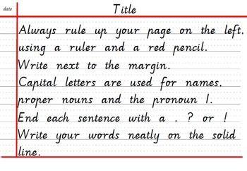 Handwriting And Work Presentation Reminder Card Victorian Modern Cursive 2nd Grade Writing Writing Neat Handwriting