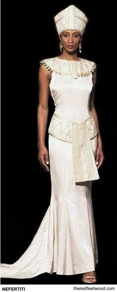 Egyptian wedding dress african inspired fashion for African inspired wedding dresses