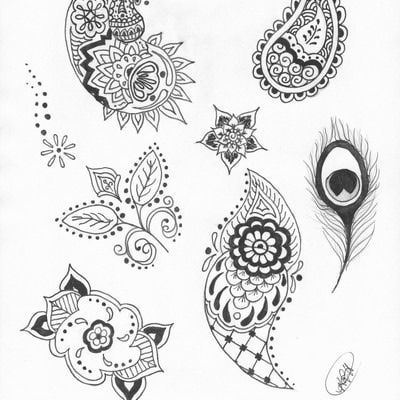 free henna designs for personal use print this page out to create your own beautiful henna. Black Bedroom Furniture Sets. Home Design Ideas