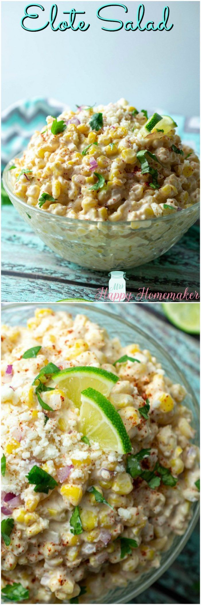 Mexican Street Corn Salad (Elote Salad) - Mrs Happy Homemaker #mexicanstreetcorn