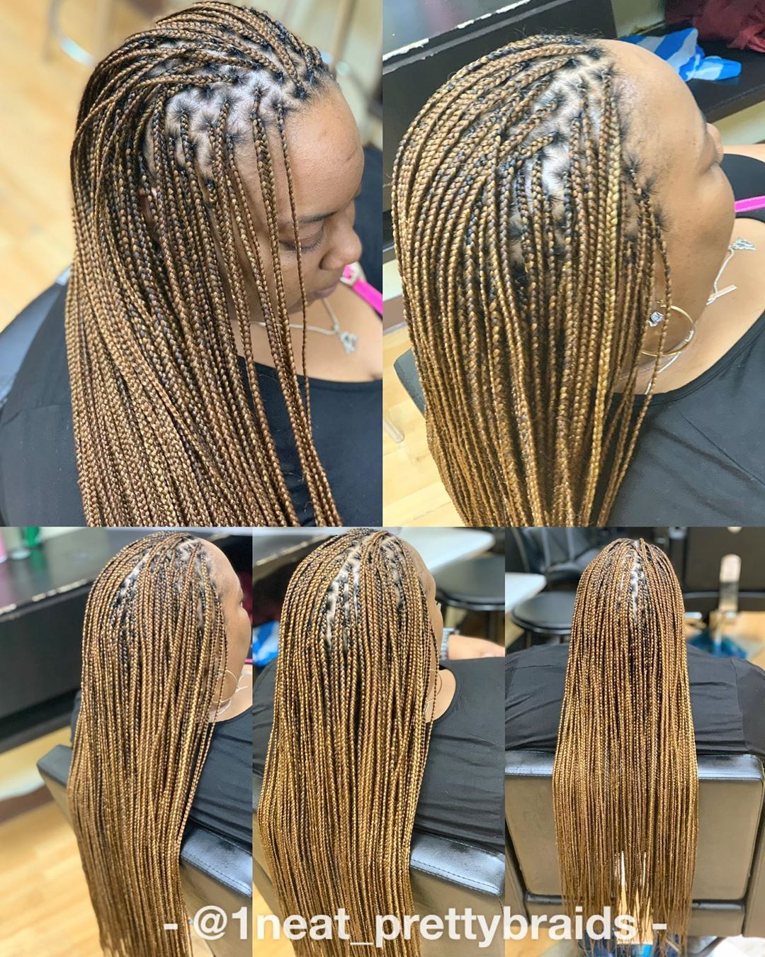 24+ Mid back length knotless braids ideas