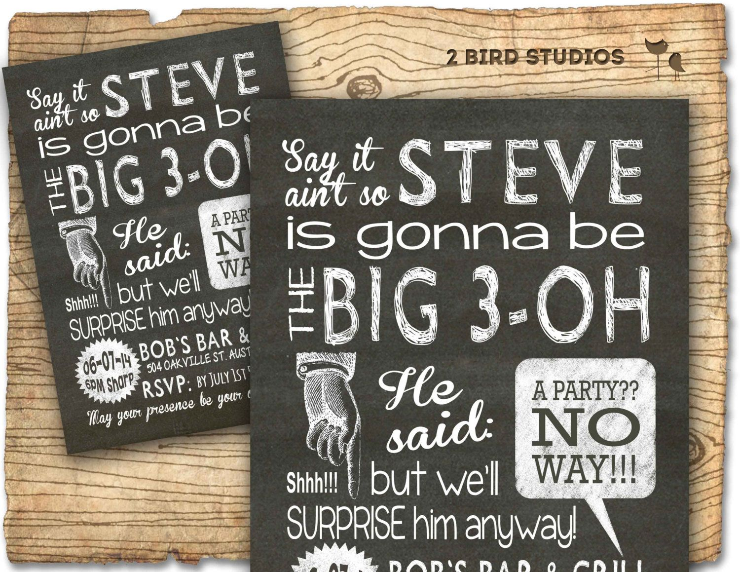 Image Result For Mens Surprise Birthday Party Invitation