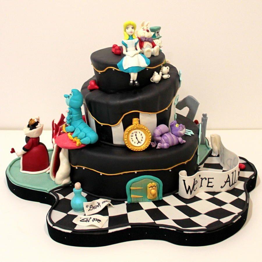 """Gateau Alice Aux Pays Des Merveilles à art de la table - gâteau pièce montée """"alice aux pays des merveilles"""