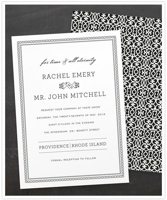 minted wedding invitations time and all eternity by j bartyn