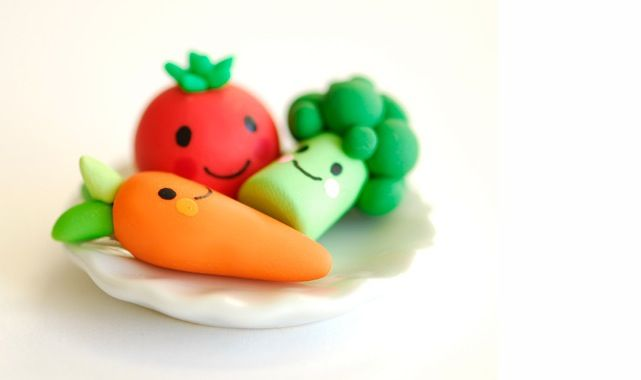Clay veggies and lot more cute figurines