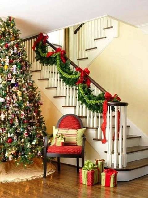 magical christmas staircase decorations that you have to see - Christmas Decorations Stairs Pinterest