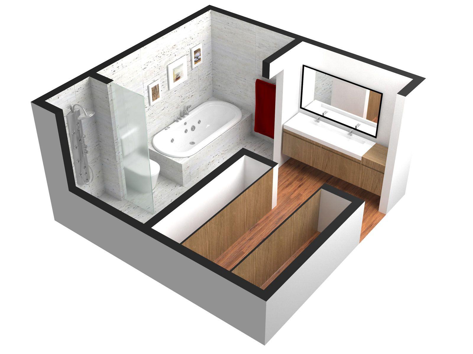 Resultado de imagen para planos de habitaciones for Baneras pequenas medidas