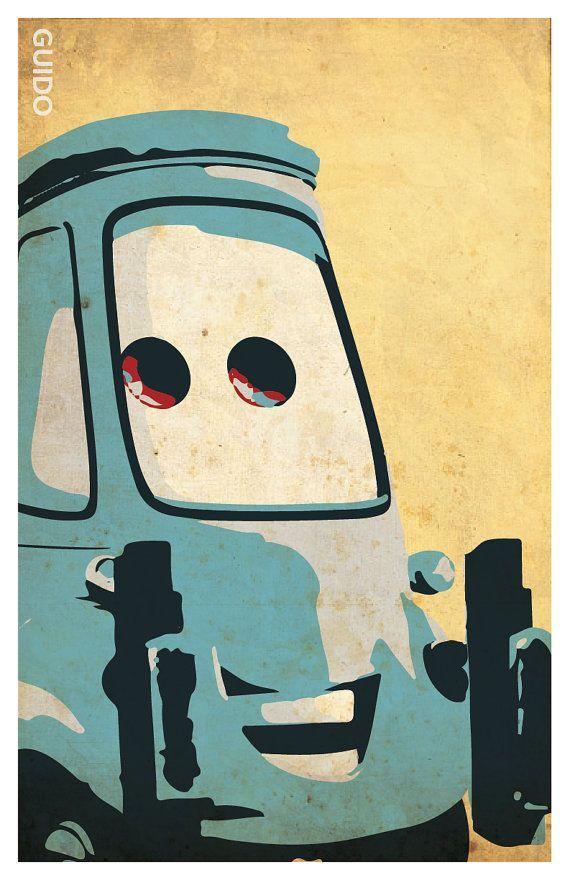 Cars poster set 11x17 Lightning McQueen Mater by PosterForum ...