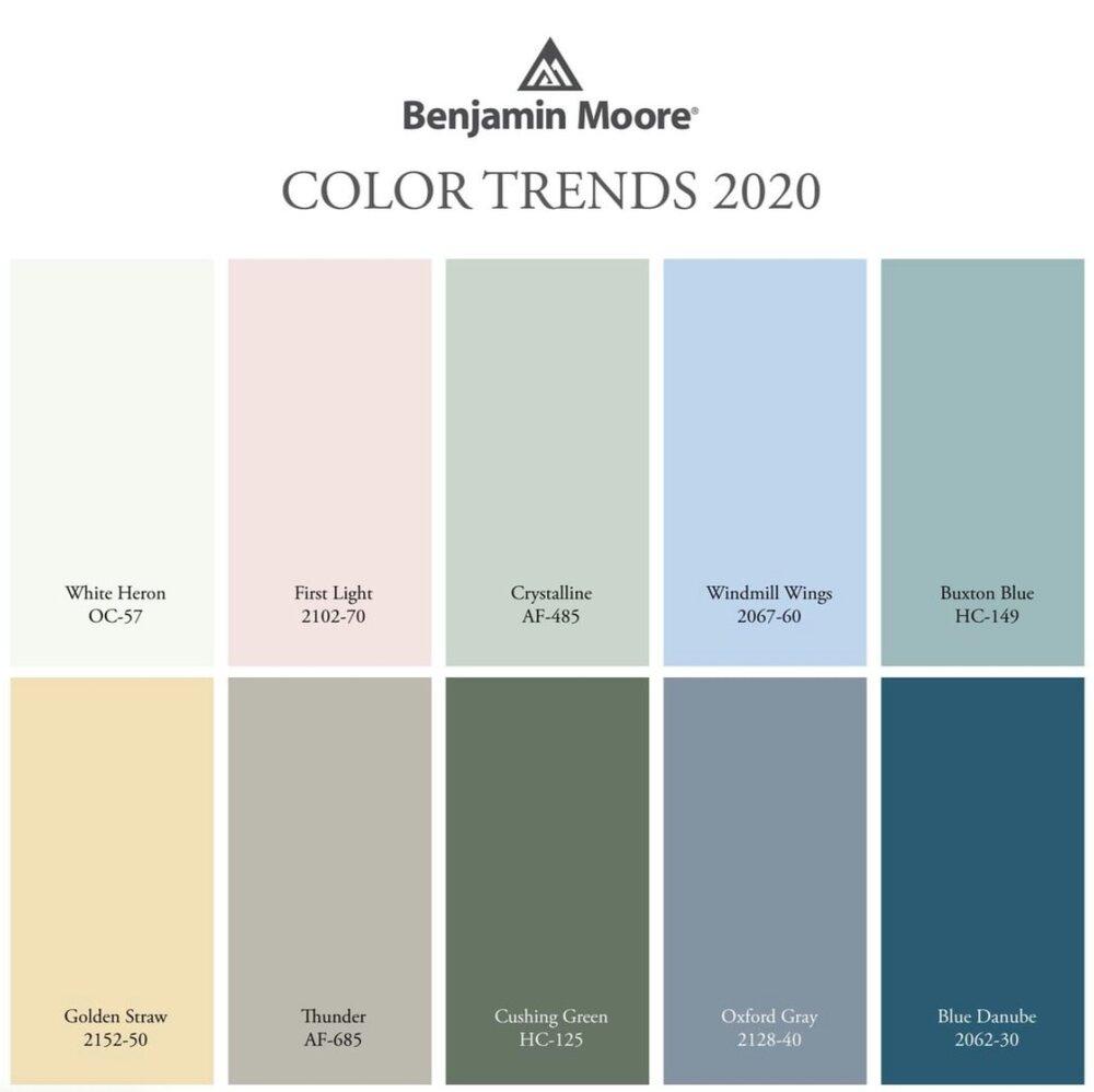 Design Spotlight benjamin moore's 2020 paint colors in