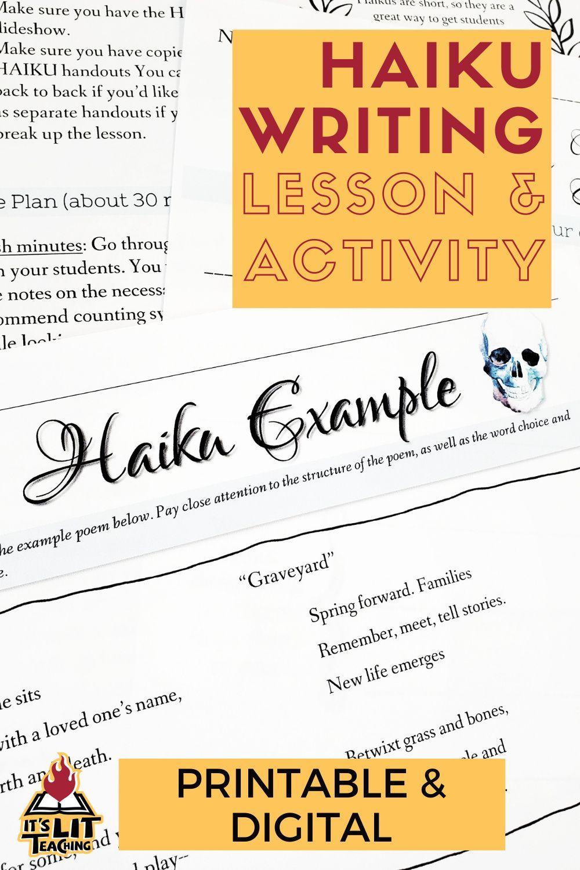 Writing Haiku Poems For High School In 2021 Teaching Creative Writing Teaching Writing Teaching High School English [ 1500 x 1000 Pixel ]