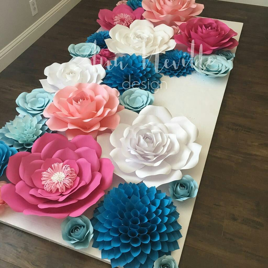 Pin By Flora Kanzashi On Paper Flowers Pinterest Flower Mural