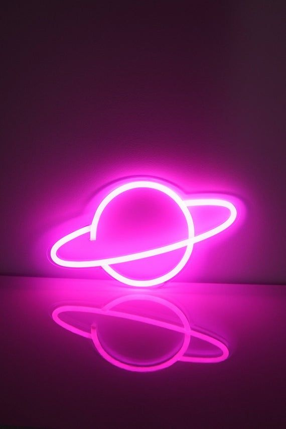 Planet Custom Led Neon Sign Choose Your Color Etsy In 2020 Neon Signs Neon Sign Bedroom Neon Room