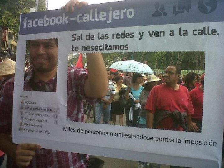 Haz un facebook callejero, deja las redes y sal a las calles
