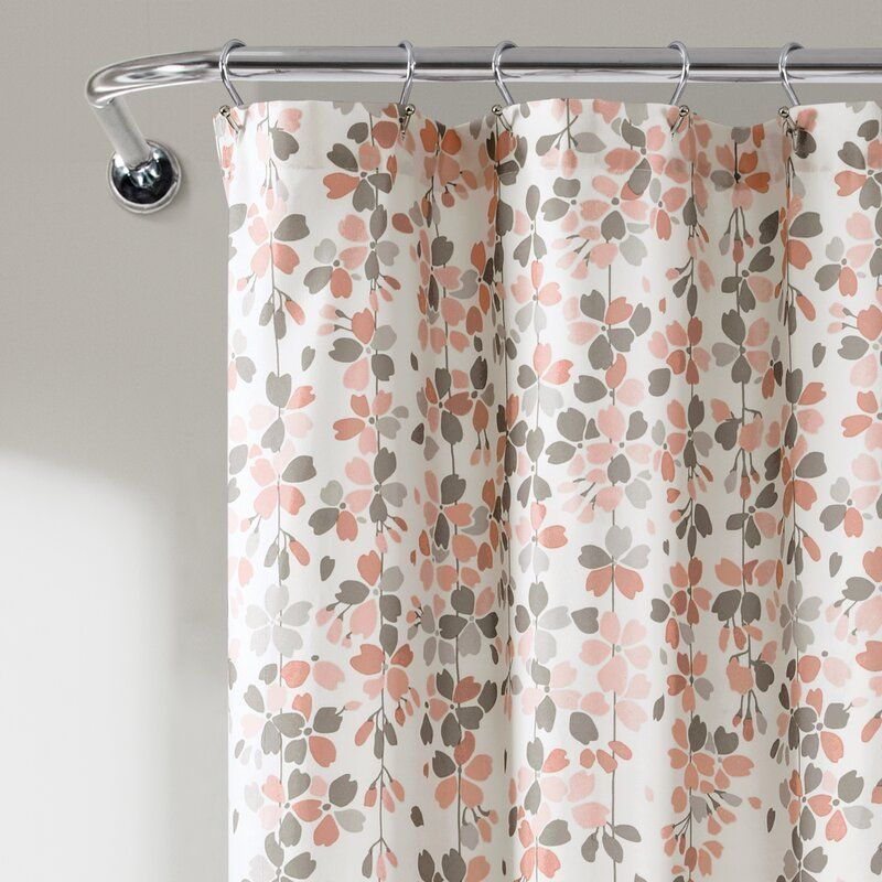 Weigel Floral Single Shower Curtain Hooks Lush Decor Flower Shower Curtain Flower Shower