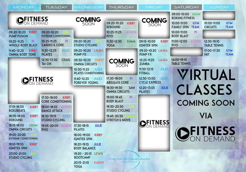 studio timetable coming soon.jpg Fitness club, Boxing