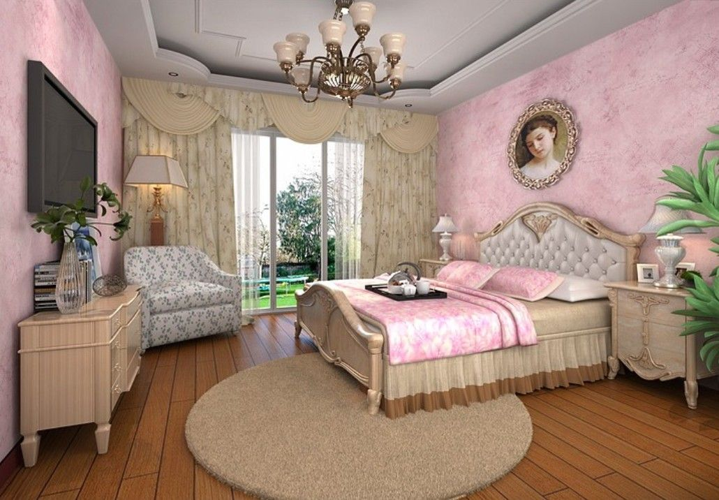 3D-design-interior-lilac-wallpaper-bedroom.jpg (1030×716 ...