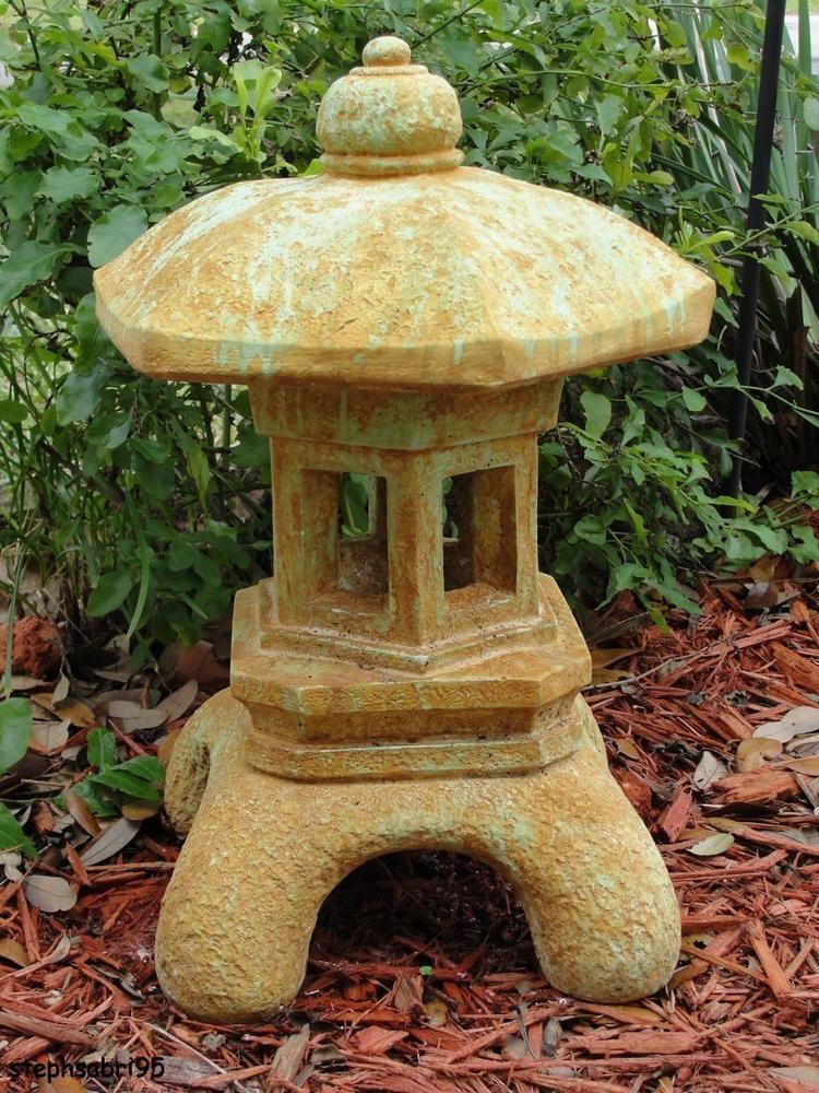 Paa Oriental Stone Concrete Lantern, Oriental Stone Garden Lanterns