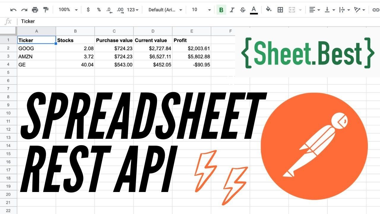 Turn A Google Spreadsheet Into A Rest Api In 2021 Google Spreadsheet Spreadsheet Turn Ons Update google spreadsheet api