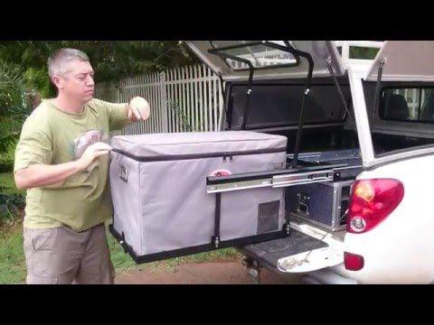 Diy Drop Fridge Slide Improved Suv Storage Diy Slides Outdoor Camping Kitchen