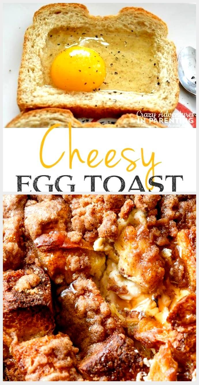 Cheesy Baked Egg Toast - Quick, fast and easy breakfast recipe ideas for a crowd...,  #Baked #Breakfast #Cheesy #crowd #Easy #egg #fast #ideas #Quick #Recipe #Toast