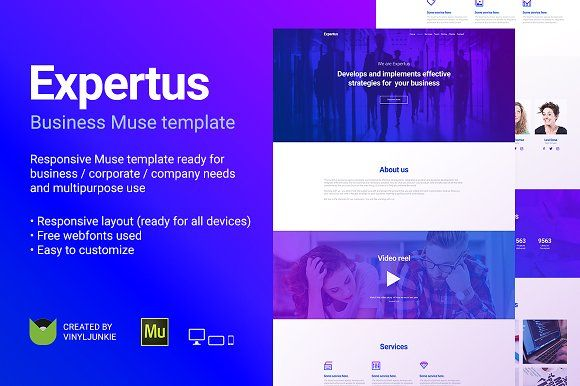 Expertus Adobe Muse Template Creativework Website Design - Adobe muse website templates