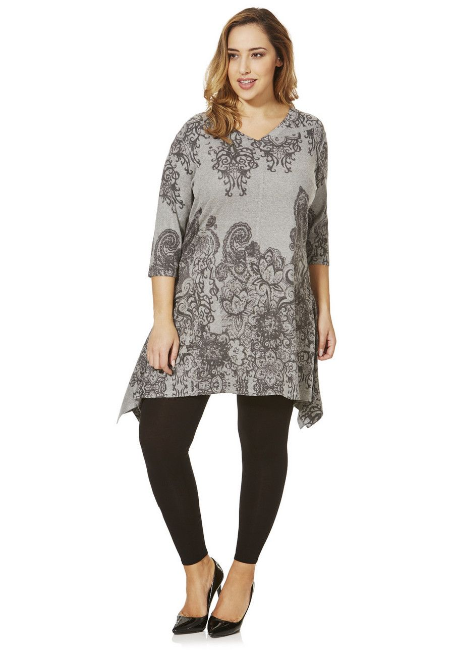 Clothing at Tesco | Stella Morgan Printed Soft Touch Plus Size ...