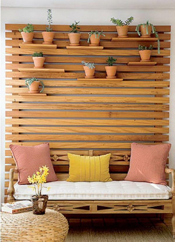 Vertikaler Garten Aus Holzpaneele Gestalten | Kreatives Für Haus ... Badezimmer Fur Den Garten Gestalten