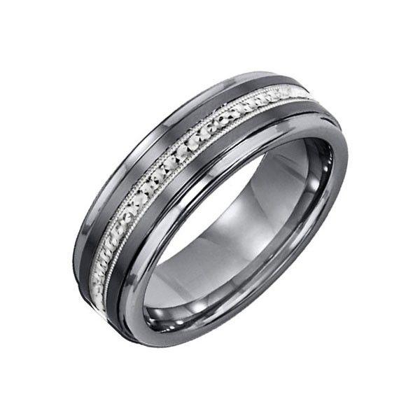 Mens Tungsten Wedding Bands with Diamonds Men Wedding Bands