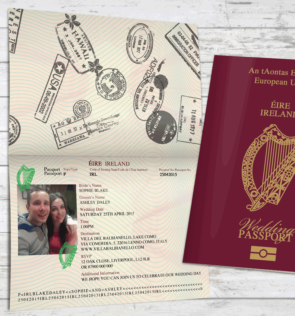 Wedding Passport Invitations, Passport Invitations, Wedding ...