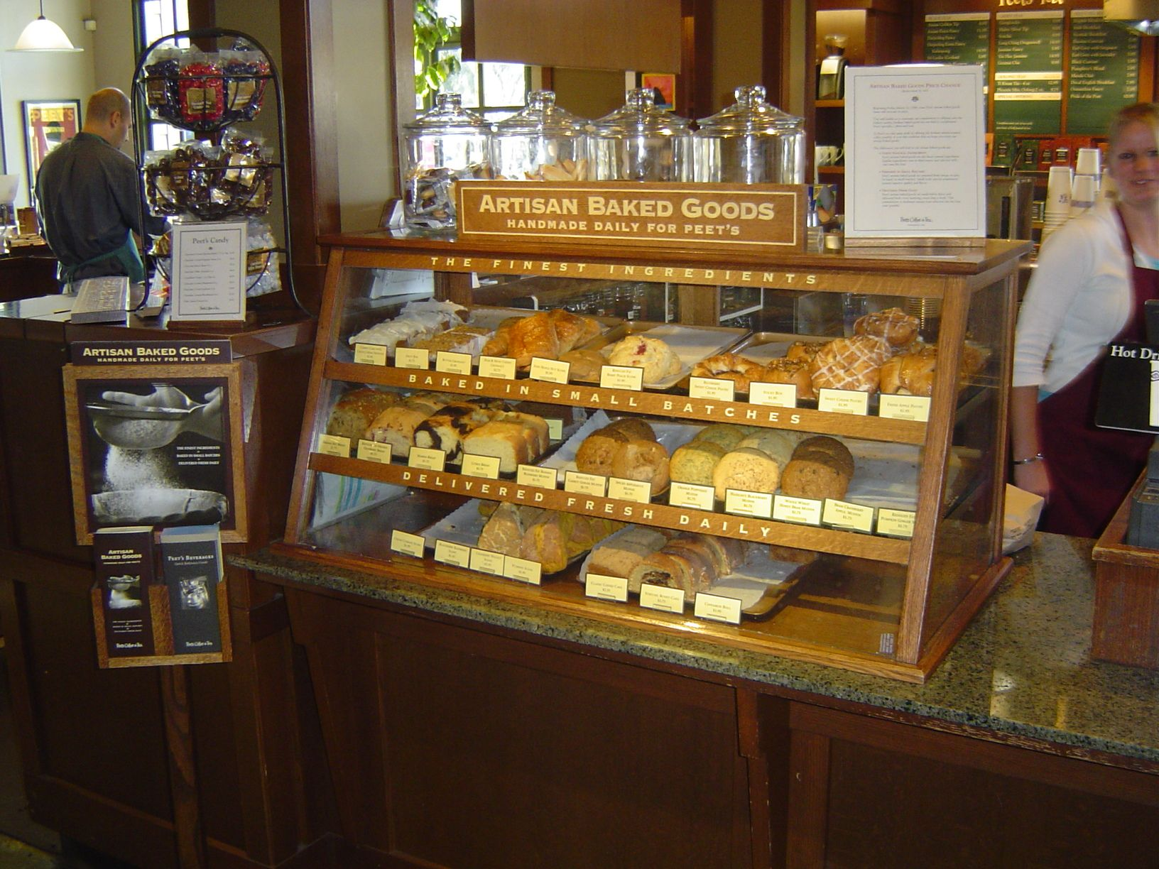 Countertop Bakery Case Peets Belmontbakerycase Lovely Countertop Display