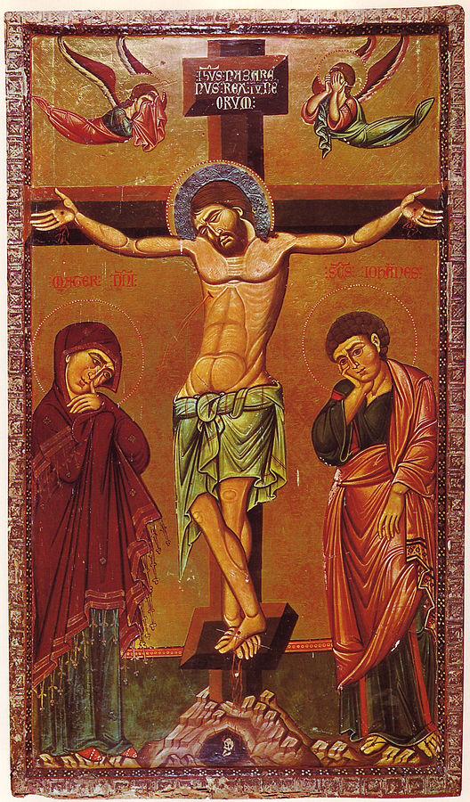 Icono de la crucifixión en Santa Catalina del Sinaí, siglo XIII. | Arte  bizantino, Arte religioso, Arte