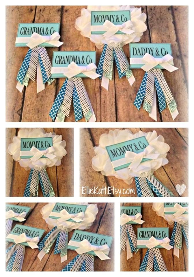 Tiffany's themed Baby Shower Badges - Custom Order ...