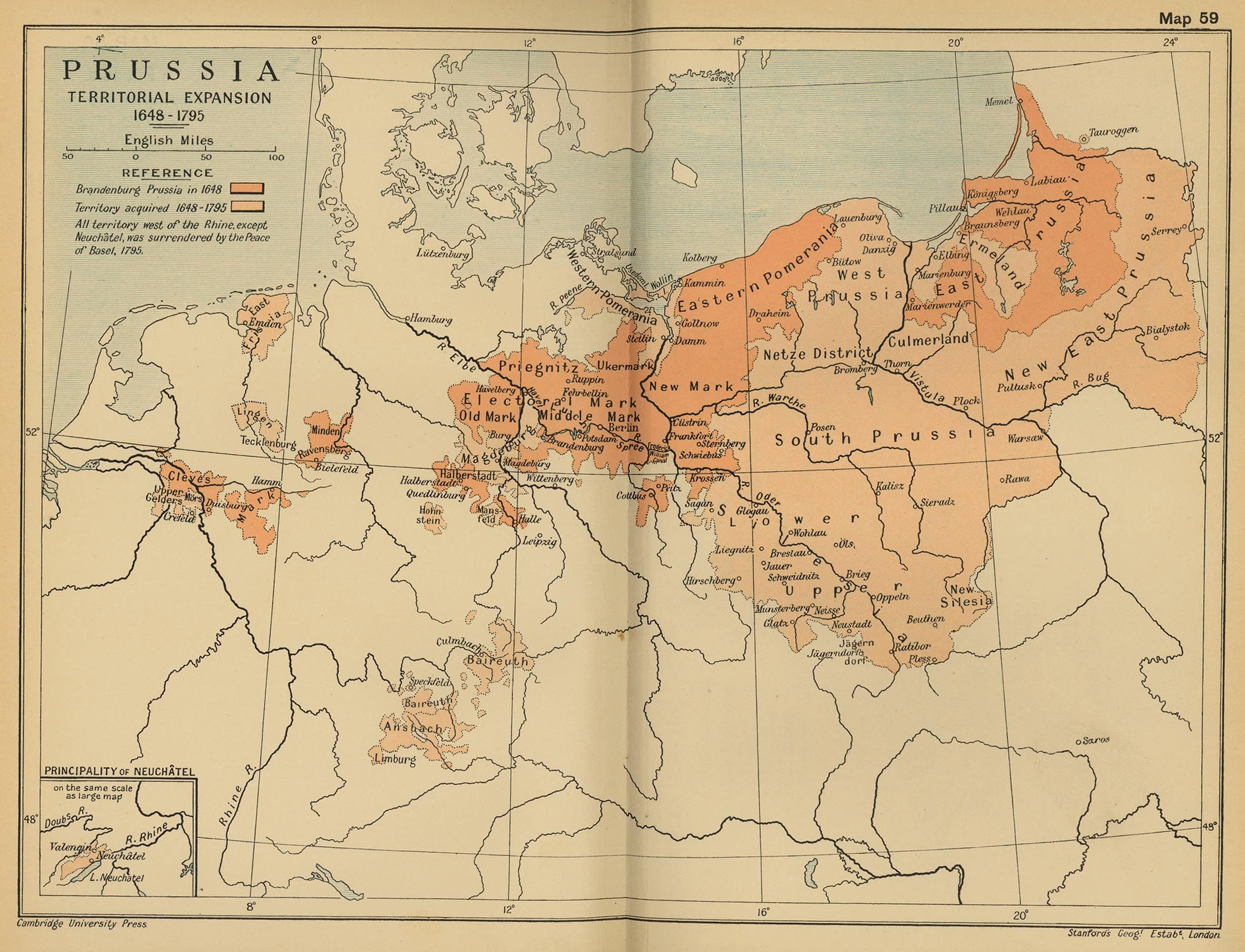 History map of Prussia Territorial Expansion History