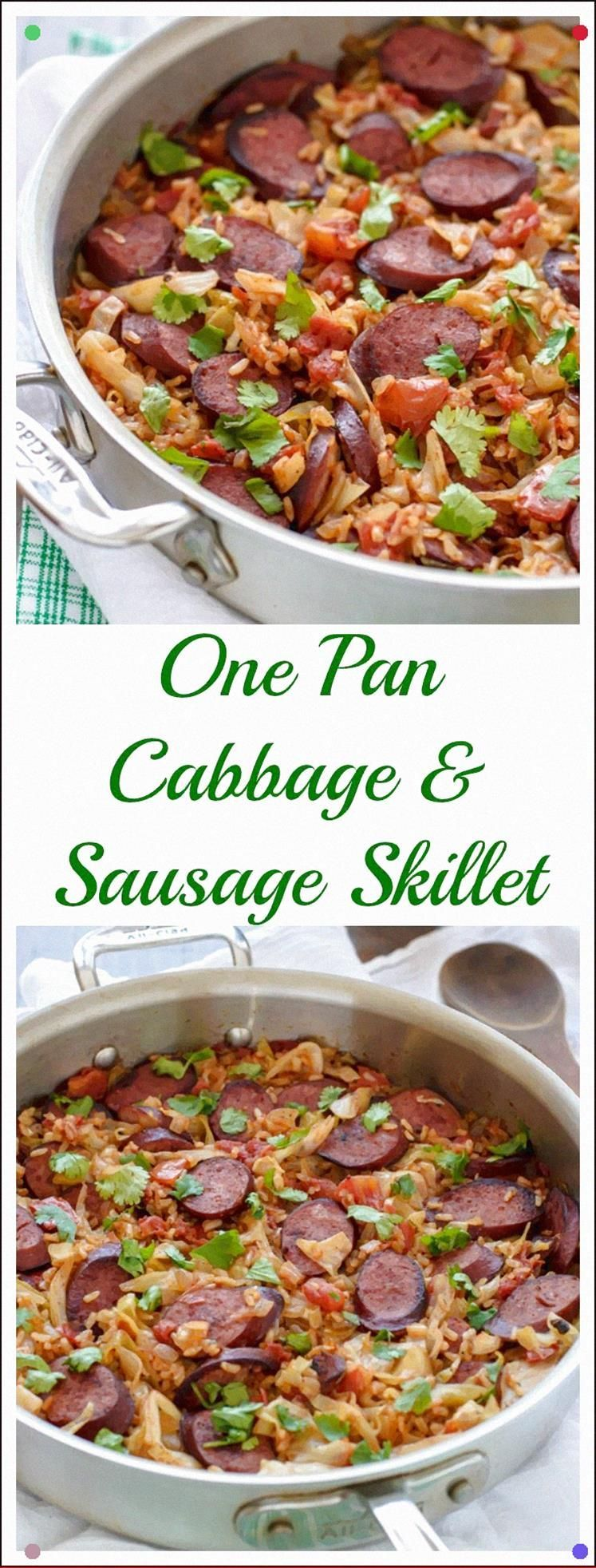 One Pan Cabbage And Sausage Skillet Simple Healthy Only One Dish