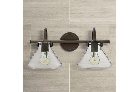 Buy Feiss Clayton 4 Light Bath Vanity Fixture In Oil: Hinkley Congress Clear Glass Oil Rubbed Bronze Bath Light