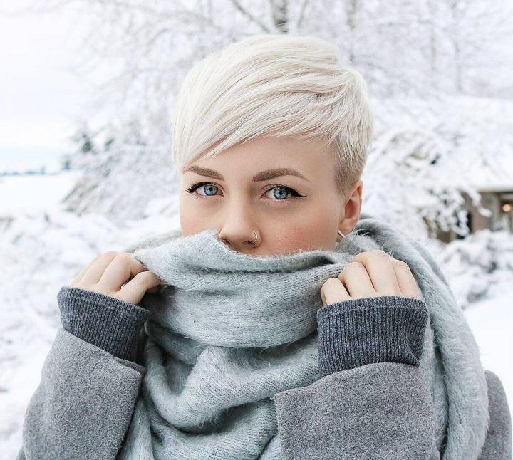 Kurzhaarfrisuren Blonde Farben Damen Sportlich 2017