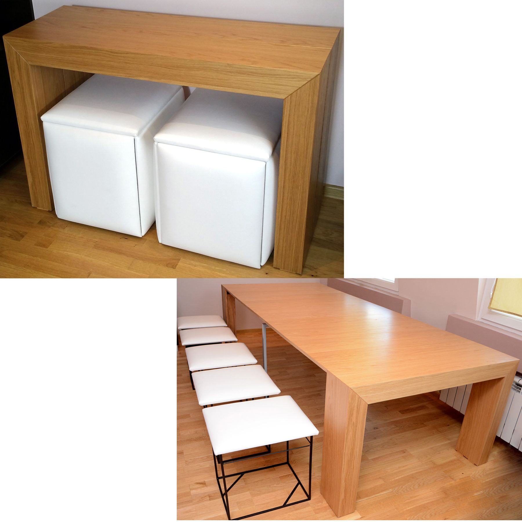 Space Saving Table And Chairs Set For 10