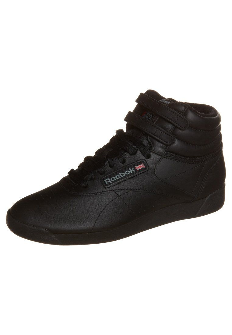 new styles 02a14 c3976 black rebock high tops  Reebok Classic FREESTYLE HI - High-top trainers -  black - Zalando.co .