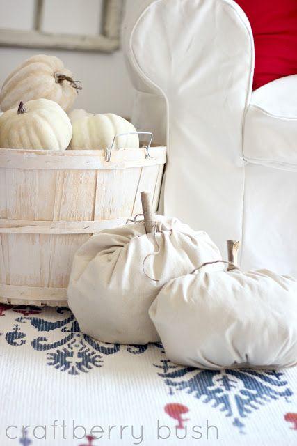 Craftberry Bush: Too easy drop cloth pumpkin....a tutorial