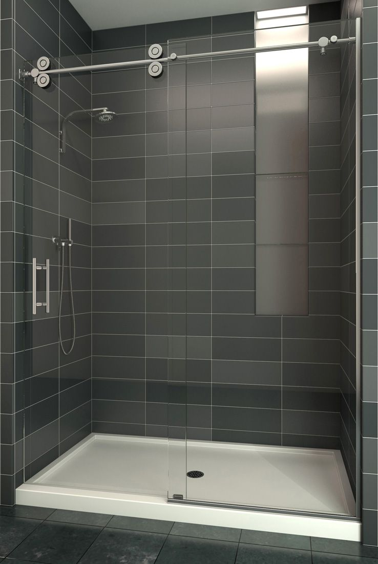 Sedona Series The Use Of Minimal Hardware Provides A Frameless Look That Gives The Enclosure An Almost Flo Shower Doors Modern Shower Doors Glass Shower Doors